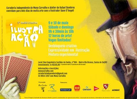 e-flyer 3° Ateliê Criativo Ilustra Ação no Atelier Dambros Caxias do Sul RS